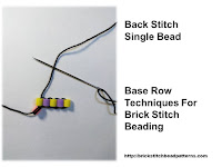 Click the image to view the beaded back stitch beading tutorial.