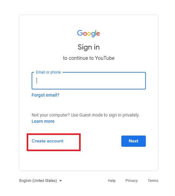 Create a YouTube Account Without Gmail Account