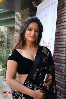 Actress Neetu Chandra Stills in Black Saree at Designer Sandhya Singh's Store Launch  0003.jpg