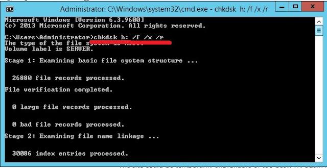 error hard drive repair