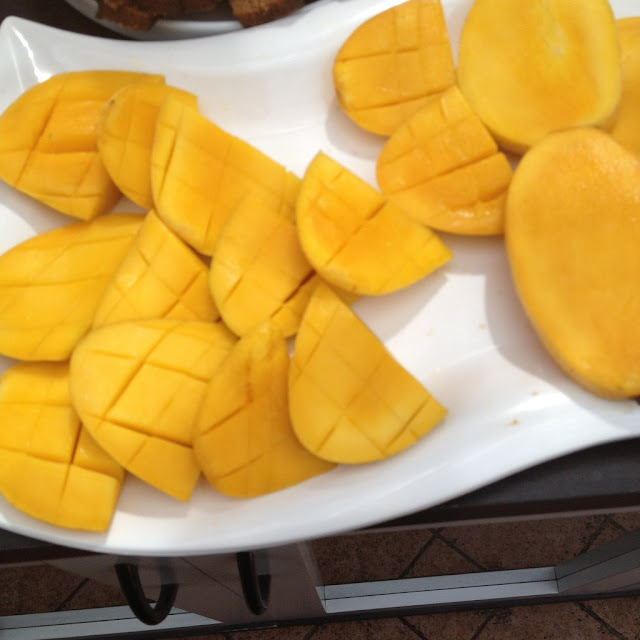 mangoes at the Purple Craves dessert buffet
