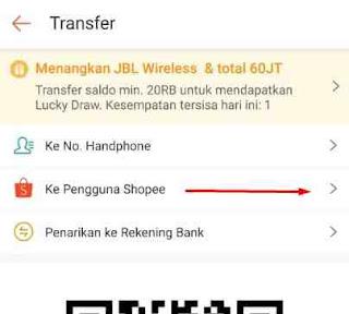 Cara Transfer ShopeePay ke ShopeePay