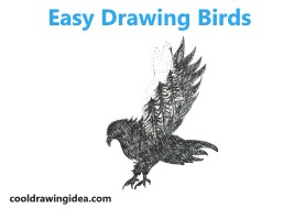 Easy Drawing Birds With Pencil Sketch Drawing Step By Step