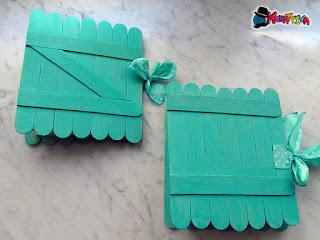 riciclo bastoncini di legno