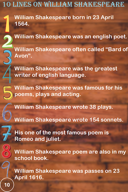 Few Lines on William Shakespeare