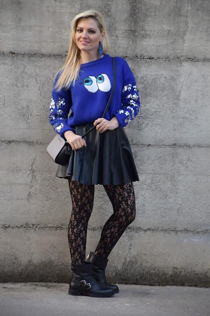 outfit blu come abbinare il blu abbinamenti blu mariafelicia magno fashion blogger colorblock by felym fashion blog italiani fashion blogger italiane blogger italiane di moda outfit febbraio 2017