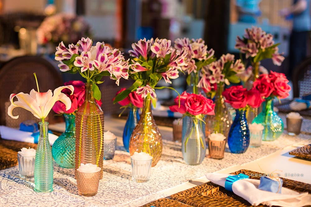 decoração - detalhes - garrafinhas - garrafinhas coloridas