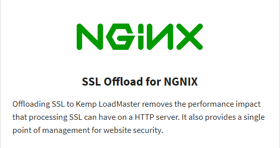 Read More SSL Offload for NGINX