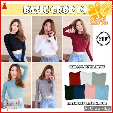 AFO038 Model Fashion Basic Crop PJ Modis Murah BMGShop