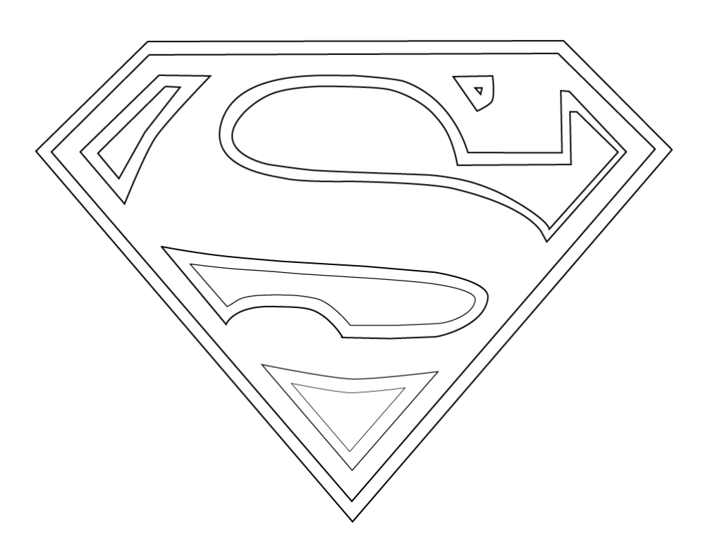 Coloriage Logo Superman Dessin Colori Logo Superman