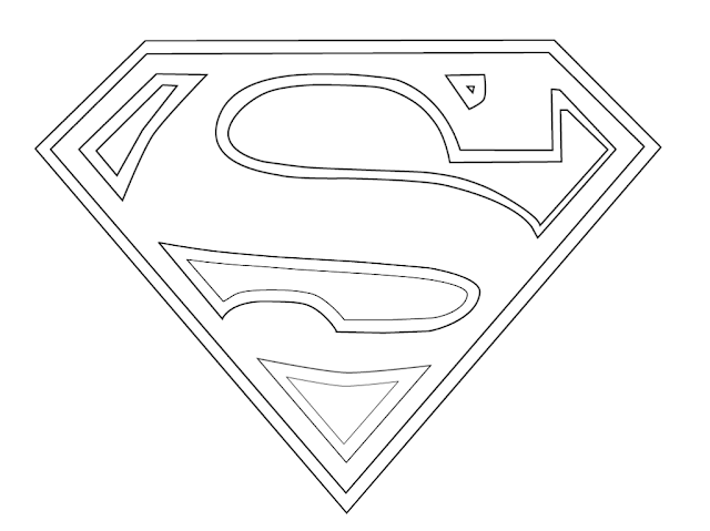 logo superman a colorier