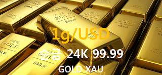 오늘 금 1 그람(g) 시세 : 24K 99.99 순금 1g (gram) 시세 실시간 그래프 (1g/USD 달러)