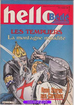 Hello-Bédé, numéro 2, 1991, les Templiers
