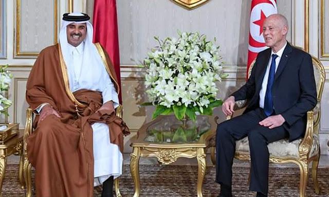 قيس سعيد يدعو امير قطر تميم بن حمد آل ثاني لتوضيح موقفه