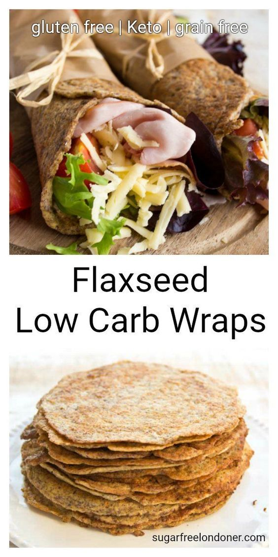 Flaxseed Low Carb Wraps