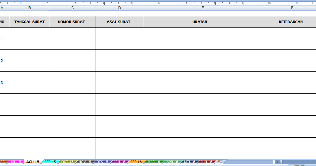 contoh buku agenda surat masuk dan keluar sekolah format excel download rpp kurikulum 2013