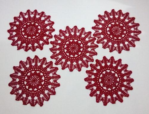 Toalhas de Mesa Crochê pequenas Decoração Natalina