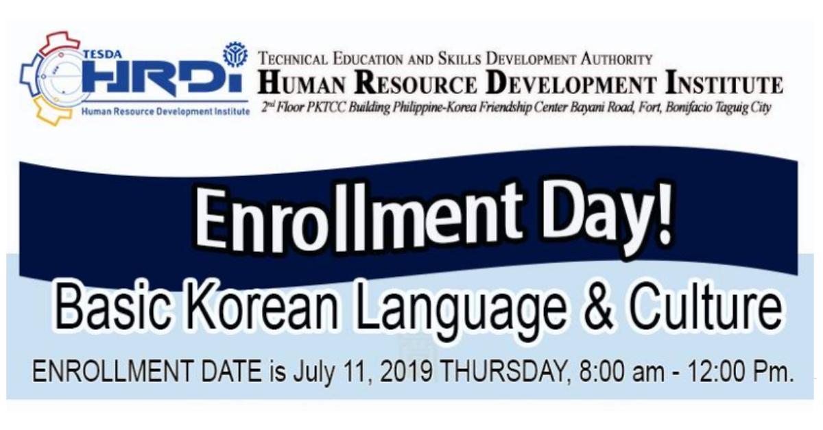 Basic Korean Language and Culture | TESDA HRDI