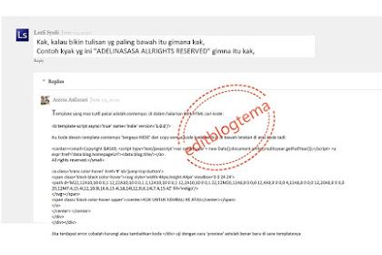 Cara membuat credit footer otomatis untuk template terbaru blogspot