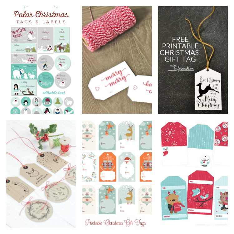 etiquetas printables o imprimibles para regalos navideños
