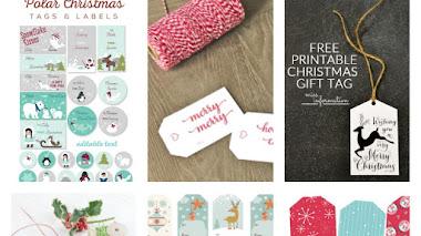 18 etiquetas printables para tus regalos  navideños