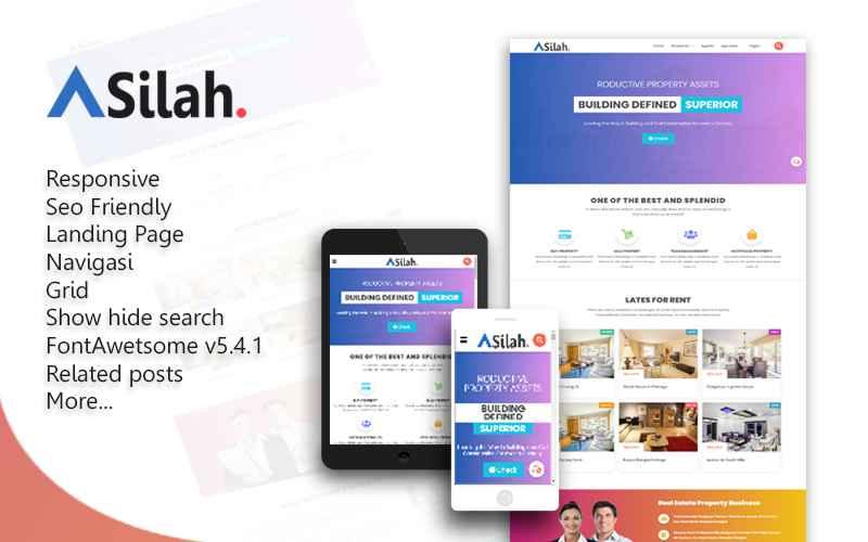 Asilah Landing Page Responsive Blogger Template  - Responsive Blogger Template