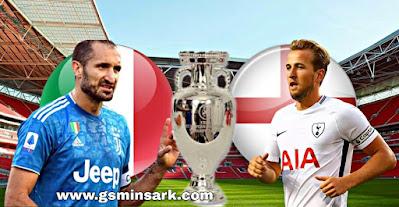 مباراة النهائي بين إنجلترا وإيطاليا و التطبيقات الناقلة نهائي يورو 2021
