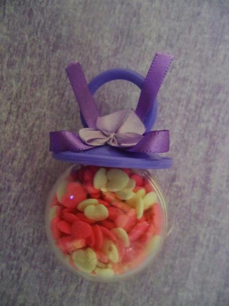 3-mini-chupeta-porta-balas-lembrancinha com balinha coloridas