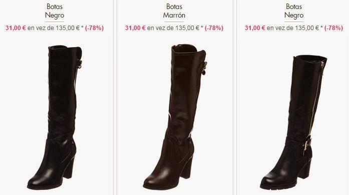 Detalle de tres de los modelos de botas disponibles