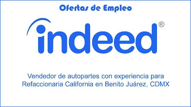 Vendedor de Autopartes con Experiencia para Refaccionaria California en Benito Juárez, CDMX - Empleo
