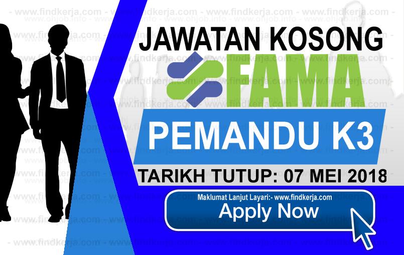 Jawatan Kerja Kosong FAMA - Lembaga Pemasaran Pertanian Persekutuan logo www.findkerja.com mei 2018
