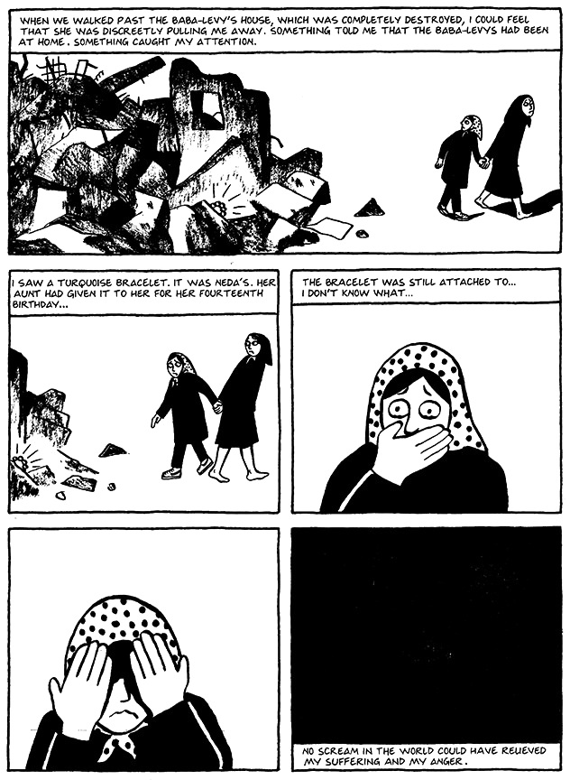 Read Chapter 18 - The Shabbat, page 140, from Marjane Satrapi's Persepolis 1 - The Story of a Childhood