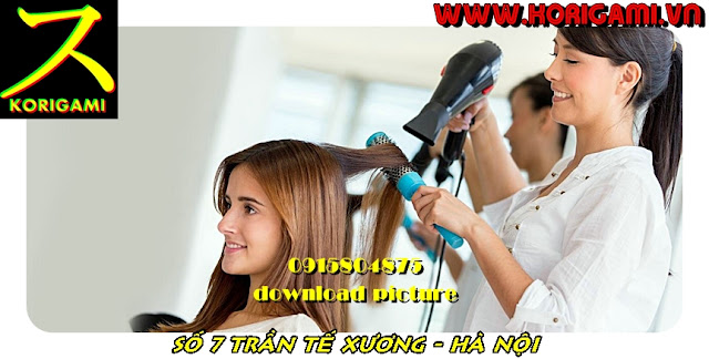 "HAIR WASH AND BLOW DRY STYLES IN HANOI KORIGAMI SALON ""THINGS MUST DO"""
