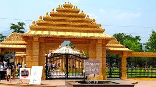 Entrance Gate of CG Temple, Shashwat Dham Metal gate
