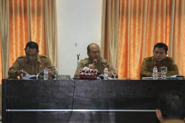 Bupati Taput Pimpin Rapat Penyusunan RPJMD 2019-2024