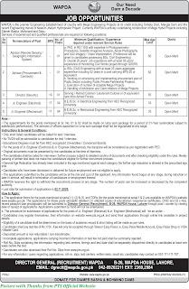 WAPDA Jobs 2020 - Latest Jobs in Wapda 2020 Download PTS Application forms for WAPDA Jobs 2020