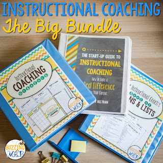 Focusing on your own personal growth is an important part of instructional coaching. To help you reflect on your coaching work and figure out which direction you plan to move in, I've created a free printable worksheet! Start reflecting and make a plan today!