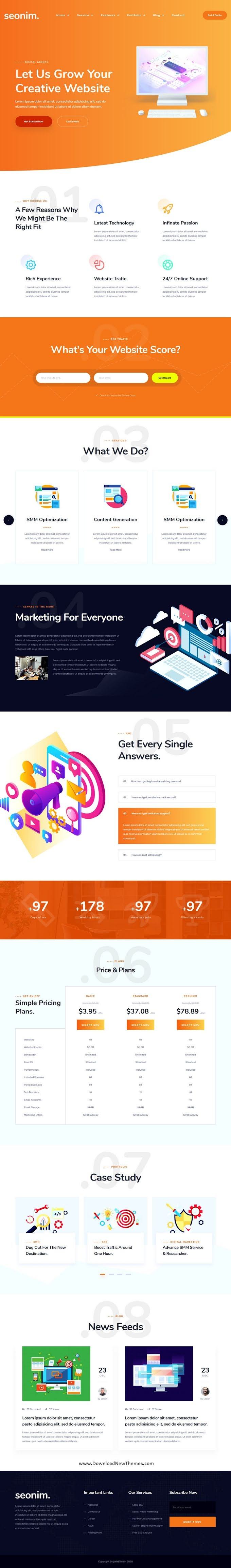 SEO & Digital Marketing Agency Template