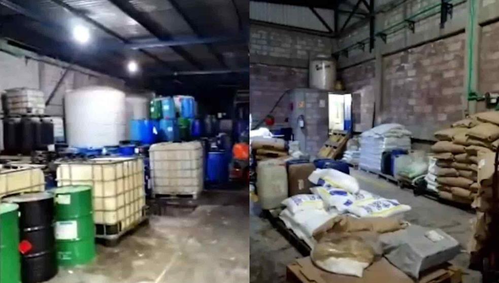 """""""Operación Blue"""" Aseguran narcolaboratorio de fentanilo en Iztapalapa"""