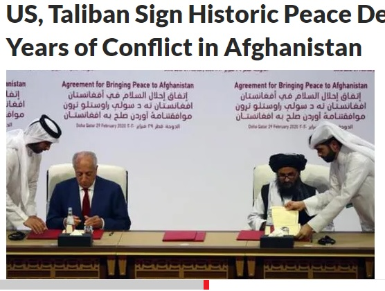 US and Taliban sign peace deal
