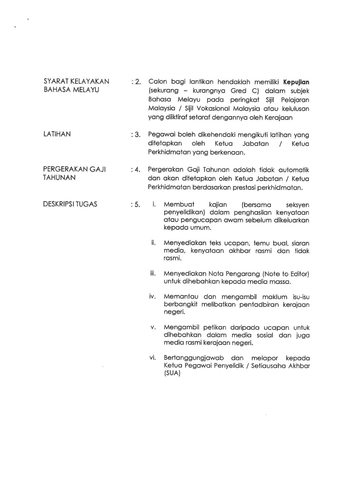 Jawatan Kosong di Pejabat Menteri Besar Johor - 15 ...