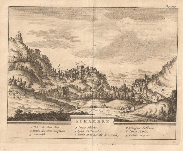 Imagem antiga da Alhambra