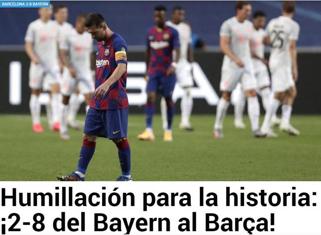 """Barcelona thảm bại 2-8: Báo Tây Ban Nha chê cười """"nỗi nhục chưa từng có"""" 3"""
