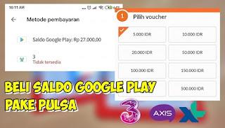 Cara Membeli Voucher Google Play Dengan Pulsa