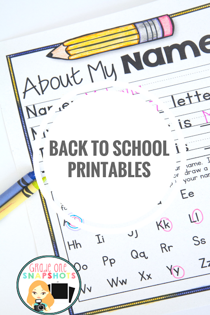 Click for Back to School Printables