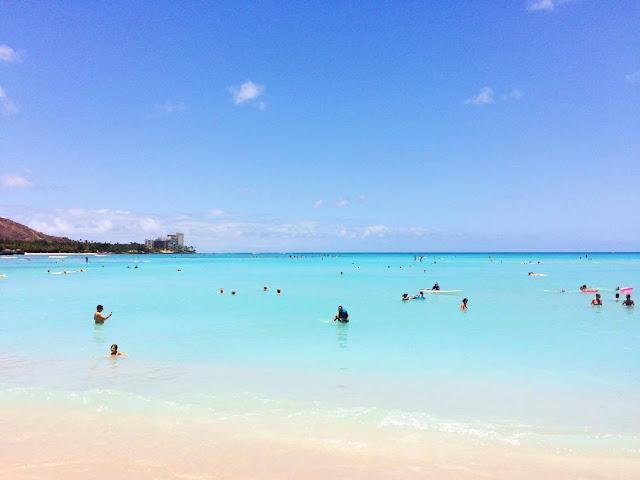 Plage de Honolulu Hawai