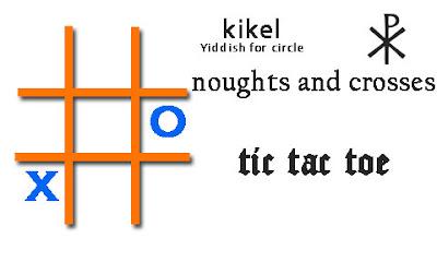 kikel Christos chi rho tic tac toe noughts and crosses