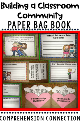 Build a positive classroom community any time of year with this paper bag book focused on learning about each other. Check out this post for more great kindness growing tips.