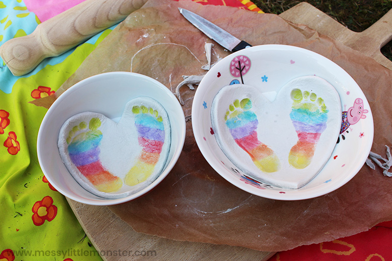 clay bowl baby footprints craft