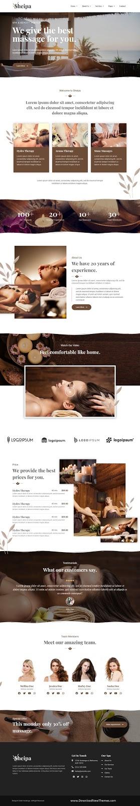 Spa & Beauty Elementor Template